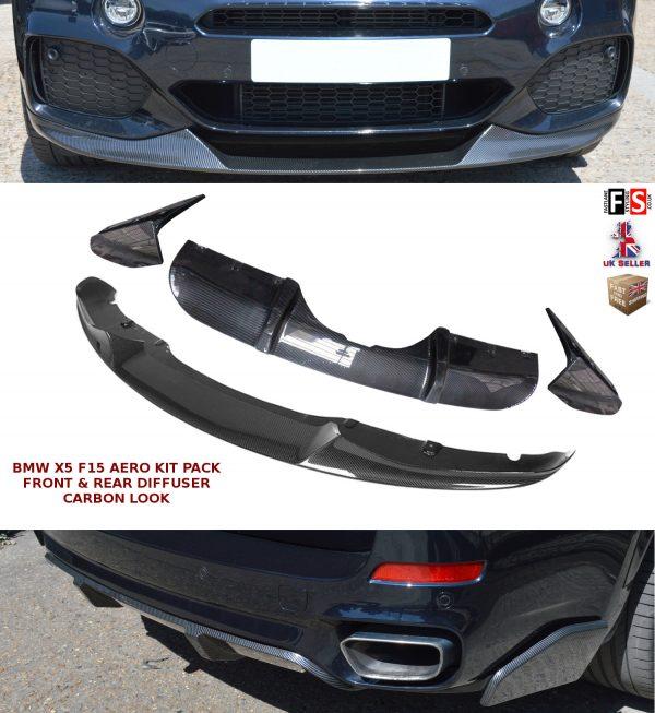 BMW X5 F15 AERO KIT FRONT SPLITTER LIP REAR DIFFUSER PACK