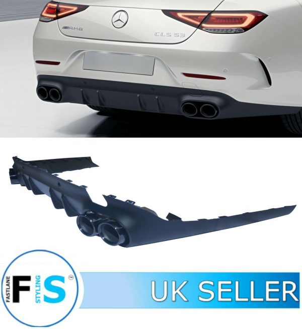MERCEDES CLS 53 C257 AMG STYLE REAR DIFFUSER & TAILPIPES