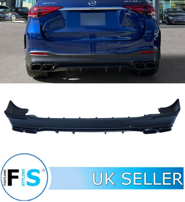 MERCEDES V167 GLE 63 AMG STYLE MATTE BLACK DIFFUSER TAILPIPES