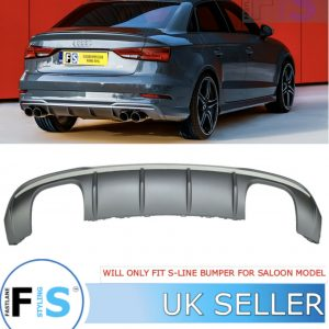 AUDI A3 SALOON S3-LOOK REAR DIFFUSER FOR S-LINE