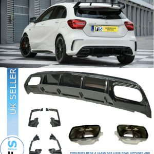 MERCEDES A CLASS W176 AMG A45 LOOK REAR DIFFUSER