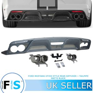FORD MUSTANG GT350 STYLE REAR BUMPER DIFFUSER