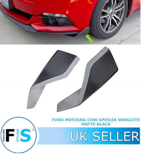 FORD MUSTANG FRONT BUMPER CHIN SPOILER WINGLETS LIP