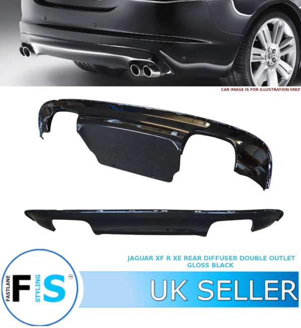 JAGUAR XE S XF R DUAL TWIN OUTLET REAR DIFFUSER