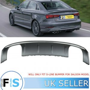 AUDI A3 S3-LOOK REAR DIFFUSER FOR S-LINE