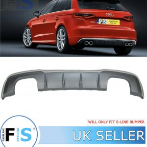 AUDI A3 HATCHBACK S3-LOOK REAR DIFFUSER FOR S-LINE
