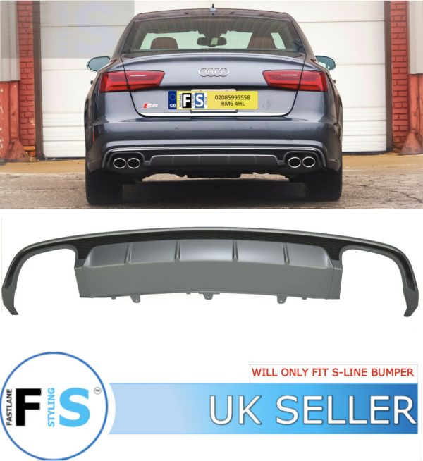 AUDI A6 S6-LOOK REAR DIFFUSER LIP FOR S-LINE