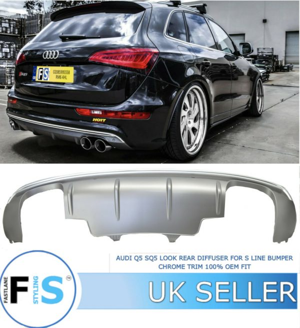AUDI Q5 SQ5 STYLE LOOK REAR DIFFUSER FOR S LINE BUMPER