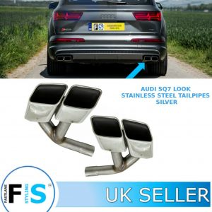 AUDI Q7 SQ7-LOOK T304 STAINLESS STEEL TAIL PIPES