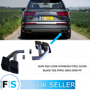 Audi Q7 SQ7-LOOK STAINLESS STEEL EXHAUST TAIL PIPES