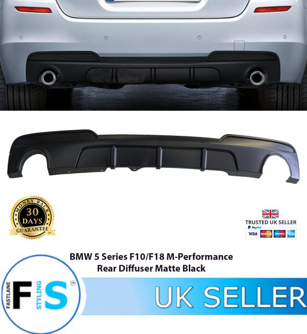 BMW 5 SERIES F10 F18 M PERFORMANCE REAR DIFFUSER