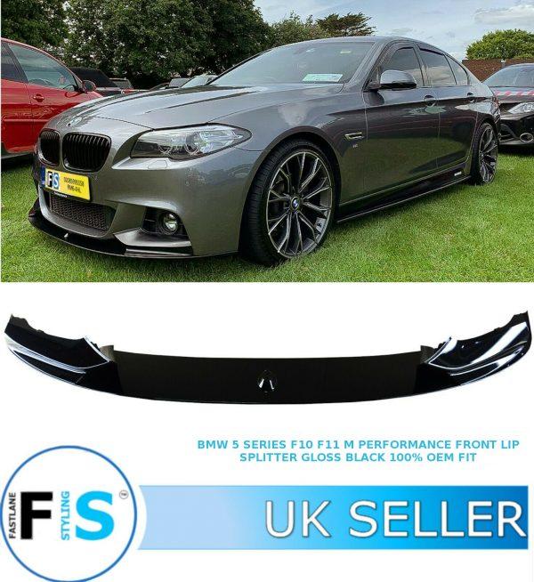 BMW 5 SERIES F11 F10 M SPORT FRONT LIP SPLITTER