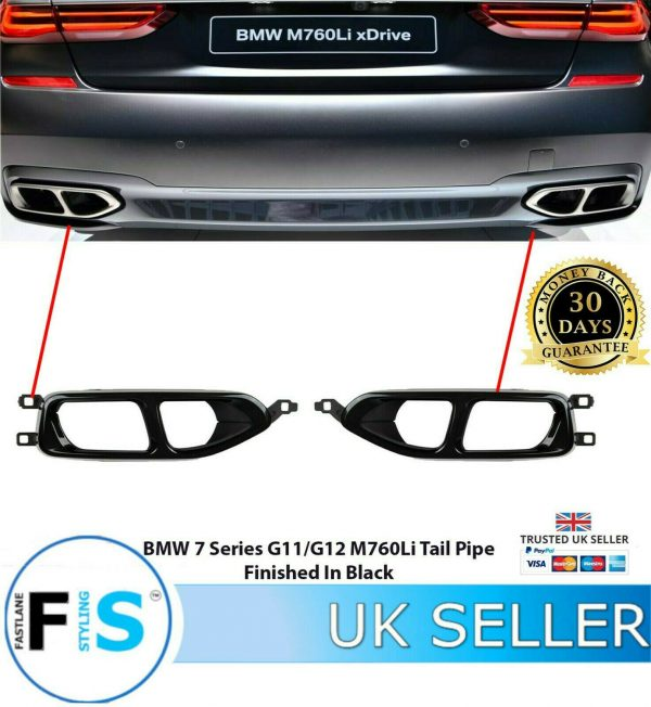 BMW 7 SERIES G11 G12 M760 760 REAR TAIL PIPES 760 LOOK