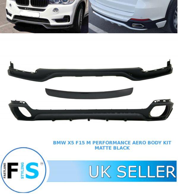 BMW X5 F15 AERO KIT FRONT SPLITTER & REAR DIFFUSER