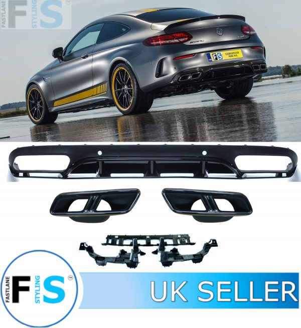 MERCEDES C CLASS A205 C205 COUPE AMG C63 REAR DIFFUSER