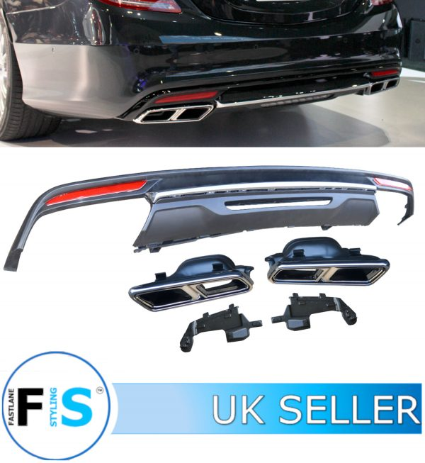 MERCEDES S CLASS W222 S65 LOOK AMG REAR DIFFUSER