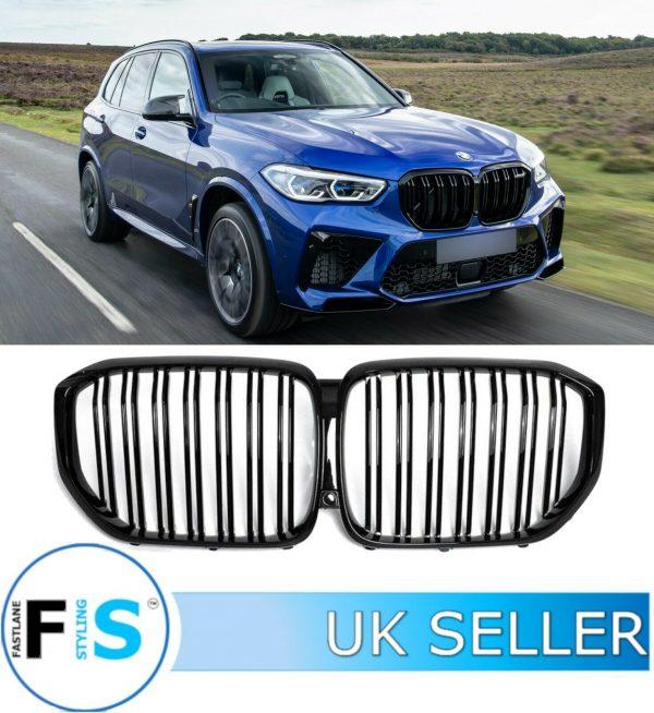 BMW X5 G05 DOUBLE SLAT FRONT KIDNEY GRILLS X5M LOOK