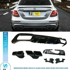 MERCEDES E CLASS W213 E63S AMG REAR DIFFUSER & TAILPIPES