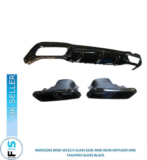 MERCEDES E CLASS W213 E63S AMG REAR DIFFUSER TAILPIPES