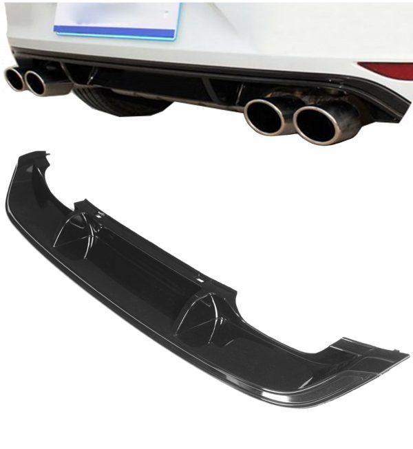 VW GOLF MK7 R RLINE REAR BUMPER DIFFUSER SPOILER LIP VALANCE SPLITTER 15-17