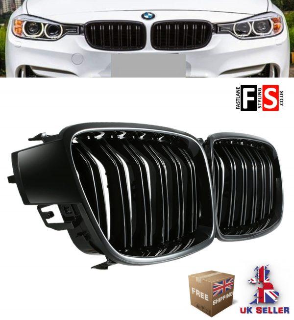 BMW 3 SERIES F30 F31 F35 F80 (M3) GLOSS BLACK KIDNEY GRILLE