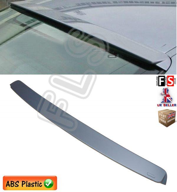 BMW 3 SERIES E46 REAR ROOF WINDOW LIP SPOILER MATT BLACK 100% OEM FIT 1999 UP