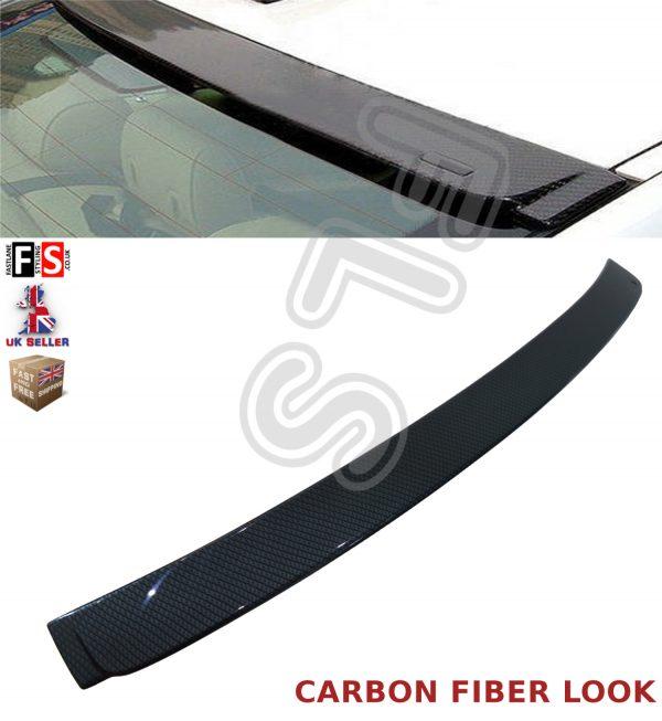 BMW 3 SERIES E90 REAR ROOF WINDOWS SPOILER 05-13 100% OEM FIT CARBON FIBRE LOOK