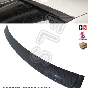 BMW 5 SERIES F10 REAR ROOF WINDOW LIP SPOILER CARBON FIBER LOOK 100% OEM FIT