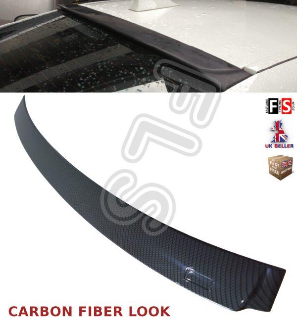 BMW 5 SERIES F10 REAR ROOF WINDOW LIP SPOILER CARBON FIBER LOOK 100% OEM FIT