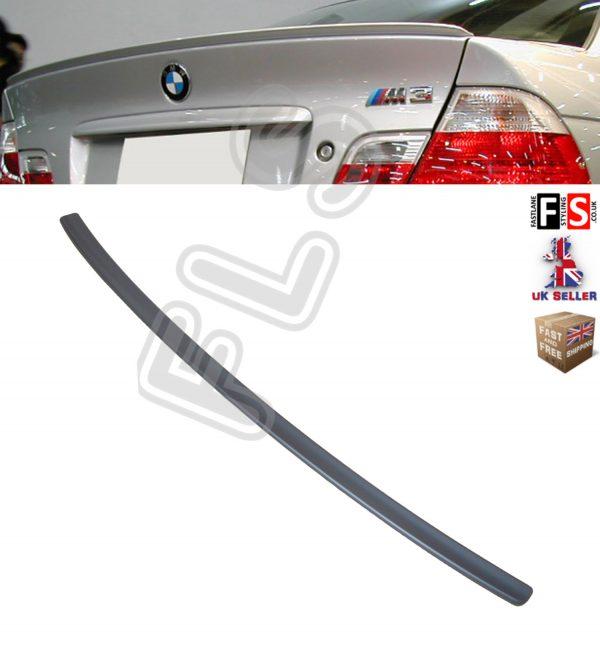 BMW 3 SERIES E46 PERFORMANCE REAR BOOT TRUNK SPOILER LIP 98-03 MATT BLACK MSPORT