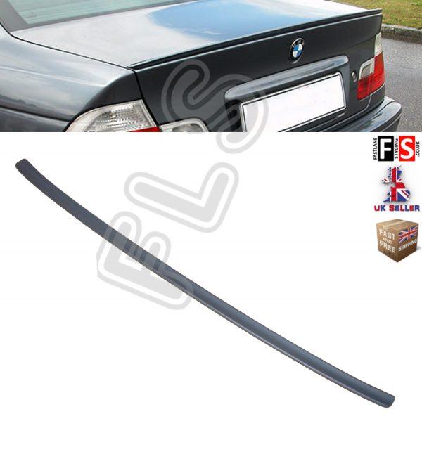 BMW 3 SERIES E46 PERFORMANCE REAR TRUNK BOOT SPOILER LIP 99-04 MATT BLACK