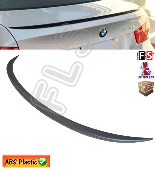 BMW 3 SERIES E90 M SPORTS REAR TRUNK BOOT LIP SPOILER MATTE BLACK 100% OEM FIT