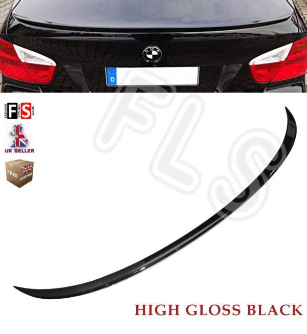 BMW 3 SERIES E90 M SPORTS REAR TRUNK BOOT LIP SPOILER GLOSS BLACK 100% OEM FIT