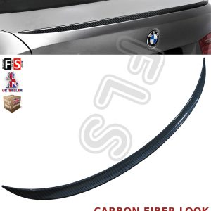BMW 3 SERIES E90 M SPORTS REAR TRUNK BOOT LIP SPOILER 05-11 CARBON FIBER LOOK