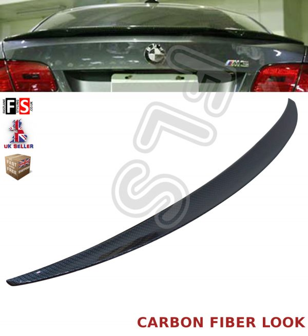 BMW 3 SERIES E92 COUPE M PERFORMANCE 05+ CARBON LOOK TRUNK BOOT LID LIP SPOILER