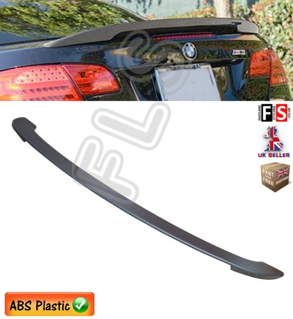 BMW 3 SERIES E93 REAR TRUNK BOOT LIP SPOILER 100% OEM FIT MATT BLACK