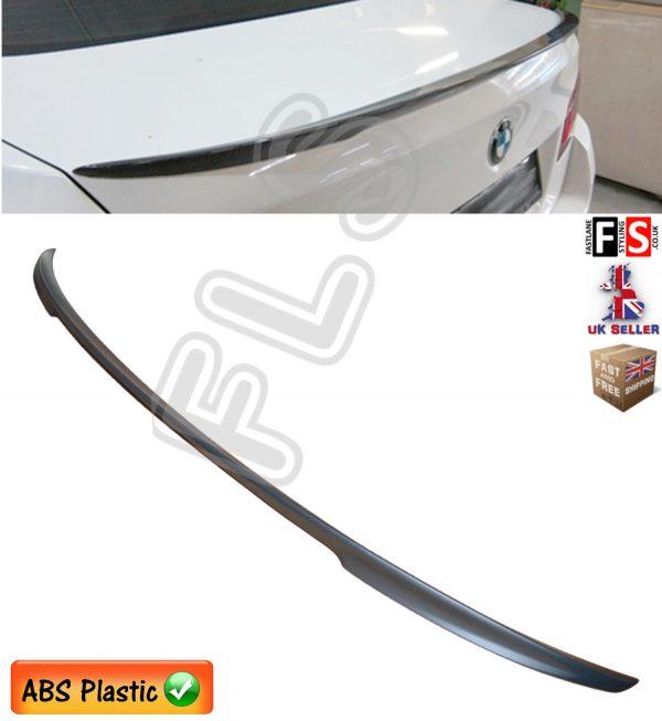 BMW 5 SERIES F10 M PERFORMANCE SPORT REAR BOOT LID LIP SPOILER MATT BLACK 100%