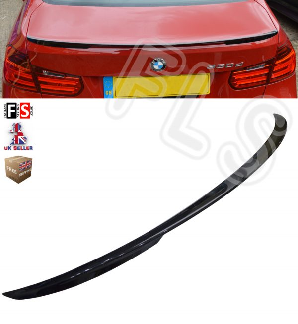 GLOSS BLACK BMW 3 SERIES F30 F80 M PERFORMANCE TYPE TRUNK BOOT SPOILER 100% FIT