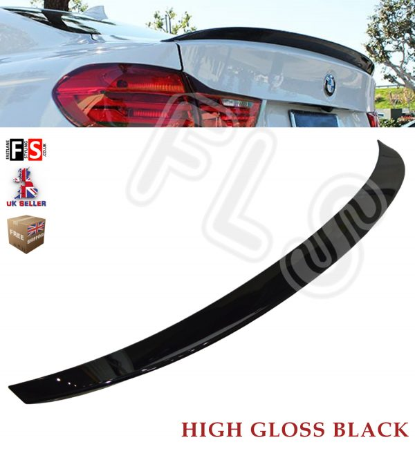 BMW 4 SERIES F32 M PERFORMANCE STYLE REAR BOOT SPOILER 100% OEM FIT GLOSS BLACK