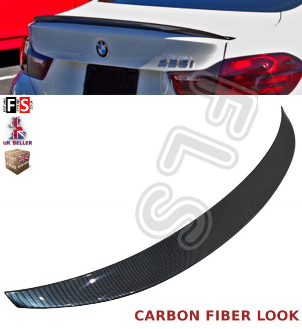 BMW 3 SERIES F30 F80 (M3 M4 V STYLE) REAR BOOT LID SPOILER PRIME OEM FIT
