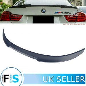BMW 4 SERIES F33 F83 M4 CONVERTIBLE V STYLE REAR TRUNK BOOT SPOILER MATTE BLACK