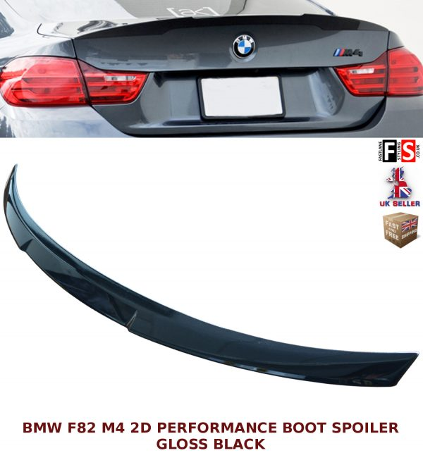 BMW 4 SERIES F82 M4 COUPE ONLY REAR TRUNK BOOT SPOILER GLOSS BLACK 100% OEM FIT