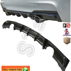 BMW 3 SERIES F30 F31 M-SPORT PERFORMANCE DUAL REAR DIFFUSER VALANCE CARBON FIBRE