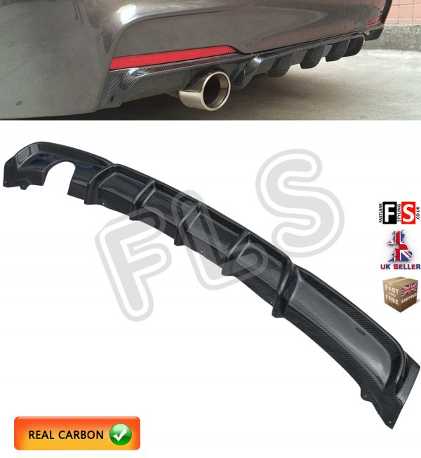 BMW 3 SERIES F30 F31 M-SPORT PERFORMANCE SINGLE REAR DIFFUSER REAL CARBON FIBRE
