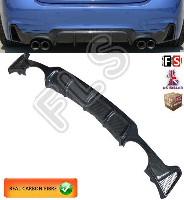BMW F32 F33 F36 4 SERIES PERFORMANCE M SPORT REAR DIFFUSER VALANCE CARBON FIBRE