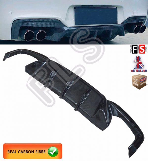 BMW 6 SERIES M6 F06 F12 F13 REAR DIFFUSER VALANCE LIP REAL CARBON FIBRE OEM FIT