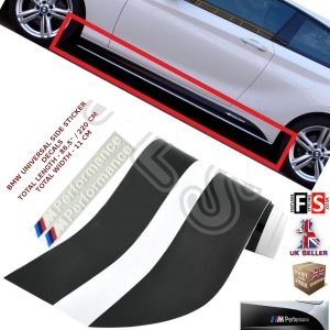 BMW M PERFORMANCE SIDE STICKER SKIRTS DECALS VINYL MATTE BLACK