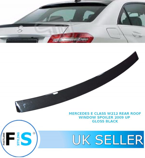 MERCEDES E CLASS W212 REAR ROOF WINDOW SPOILER GLOSS BLACK