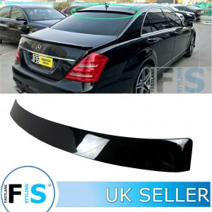 MERCEDES S CLASS W221 REAR ROOF WINDOW SPOILER AMG STYLE 2007-2010