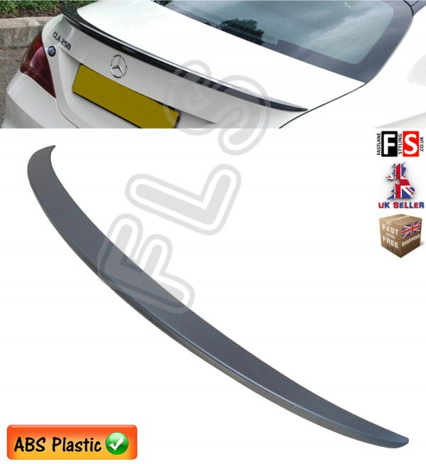 MERCEDES CLA W117 C117 AMG STYLE REAR TRUNK BOOT LIP SPOILER MATTE BLACK OEM FIT
